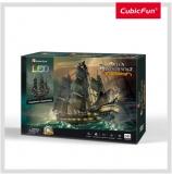 Puzzle 3D Led Nava Queen Anne 340 Piese Cubicfun