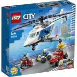 Urmarire cu elicopterul politiei 60243 LEGO City