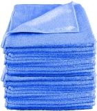 Laveta universala microfibra, 40 x 40 cm, albastru, 10 buc/set