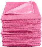 Laveta universala microfibra, 40 x 40 cm, roz, 10 buc/set