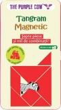 Jucarie educativa Tangram magnetic, Purple Cow