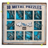 Puzzle din metal, 10 buc/set, Blue, Eureka!