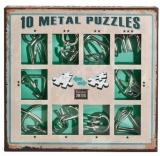 Puzzle din metal, 10 buc/set, Green, Eureka!
