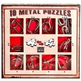 Puzzle din metal, 10 buc/set, Red, Eureka!
