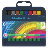 Set fineliner 1 mm, 8 culori, Link-It Schneider