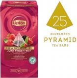 Ceai Exclusive Selection negru cu fructe de padure 25 plicuri piramida/cutie Lipton