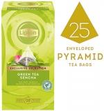 Ceai Exclusive Selection verde Sencha 25 plicuri piramida/cutie Lipton