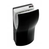 Uscator de maini vertical cu actionare senzor, din plastic negru, Dualflow Plus Mediclinics