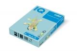 Carton IQ color pastel A4 medium blue 160 g/mp, 250 coli/top