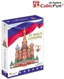 Puzzle 3D Catedrala St. Basil (Nivel Complex 214 Piese)  Cubicfun
