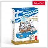 Puzzle 3D Insula Santorini (Nivel Complex 129 Piese) Cubicfun