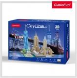 Puzzle 3D New York 123 Piese Cubicfun