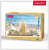 Puzzle 3D Barcelona 186 Piese Cubicfun