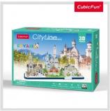 Puzzle 3D Bavaria 178 Piese Cubicfun
