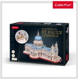 Puzzle 3D Catedrala St. Paul (Nivel Complex 643 Piese)  Cubicfun