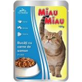 Pliculete cu bucati de carne de somon in sos 100g Miau-Miau