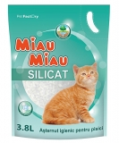 Nisip silicatic pisici 3.8 l Catclin Miau-Miau