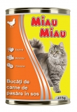 Conserva cu pui pentru pisici 415 g Miau-Miau