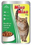 Pliculete cu carne de curcan in sos 100 g Miau-Miau