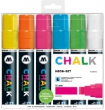 Marker creta lichida, varf High-Flow, 15 mm, Chalk Marker Neon, 6 culori/set Molotow