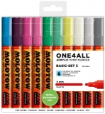 Marker cu vopsea acrilica, varf rotund, 4 mm, ONE4ALL 227HS Basic 3, 10 culori/set Molotow