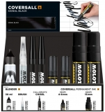 Set 30 markere cu vopsea, diferite dimensiuni, Coversall Collection + rezerve 30 ml Molotow