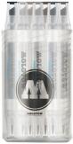 Marker, varf dublu, Aqua Twin Complete Set Grey, 12 buc/set Molotow