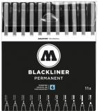 Liner, diferite dimensiuni, Blackliner Complete Set 11 buc/set Molotow
