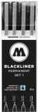 Liner, diferite dimensiuni, Blackliner Set 1, 4 buc/set Molotow