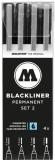 Liner, diferite dimensiuni, Blackliner Set 2, 4 buc/set Molotow