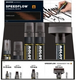 Set markere cu vopsea, diverse dimensiuni, Speedflow Ink 14 buc/set Molotow