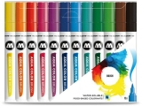 Marker caligrafic, varf tip pensula, Aqua Color Brush Basic, 12 culori/set Molotow