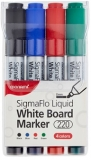Marker Whiteboard 2 mm SigmaFlo 220 set 4 culori Monami