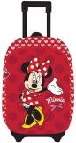 Ghiozdan Troller Clasele 1-4 3D 2 Fermoare Minnie Mouse rosu Pigna