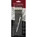 Creioane grafit si radiera, tarii diferite, MONO, 6 buc/set Tombow