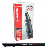 Marker permanent 0.4 mm negru OHPen, 10 buc/cutie Stabilo