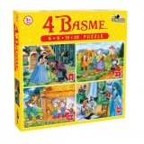 Puzzle 4 basme mici 6, 9, 15, 20 piese Noriel