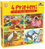 Puzzle 4 prieteni mici 6, 9, 15, 20 piese Noriel