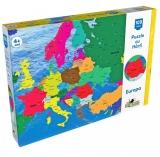 Puzzle cu harti, Harta Europei, 100 de piese Noriel