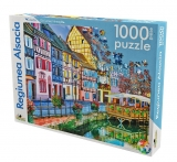Puzzle 1000 piese Peisaje internationale Regiunea Alsacia Noriel