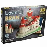 Puzzle 3D Castelul Bran, 85 piese Noriel