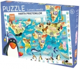 Puzzle Lumea Vesela Harta prietenilor, 240 piese Noriel