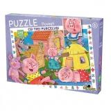 Puzzle cu povesti Cei trei purcelusi, 240 piese Noriel