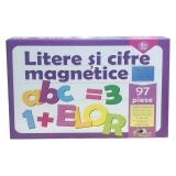 Jocul literelor si cifrelor magnetice 97 piese Noriel