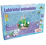 Puzzle Labirintul animalelor, 35 piese Noriel