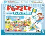 Puzzle cu surprize Vehicule 36 piese Noriel