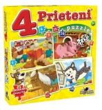 Puzzle 4 Prieteni Mici Noriel