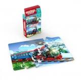Mini Puzzle cu doua fete - Vara, Iarna, 24 piese Noriel