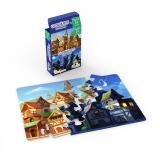 Mini Puzzle cu doua fete - Zi, Noapte, 24 piese Noriel