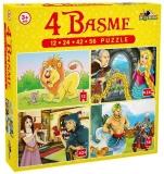 Puzzle 4 basme 12, 24, 42, 56 piese Noriel